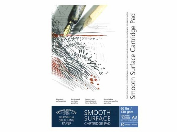 Zeichenblock Winsor Newton Smooth Surface 130g/qm