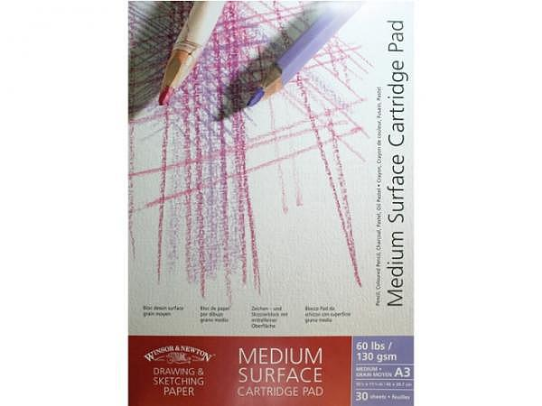 Zeichenblock Winsor Newton Medium Surface 130g A3