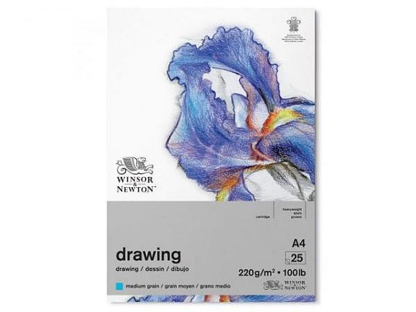 Zeichenblock Winsor Newton Medium Surface 220g A4, 30 Blatt
