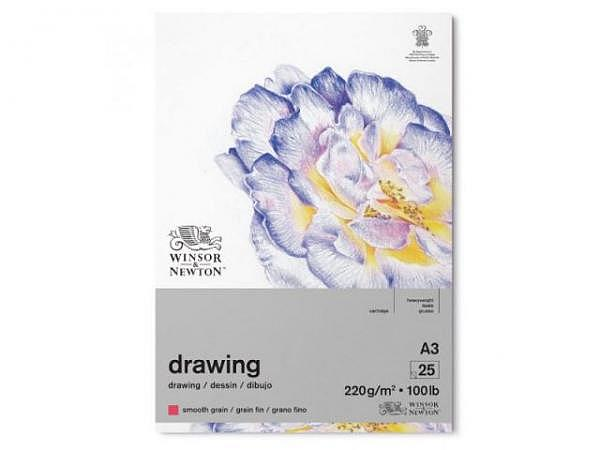 Zeichenblock Winsor Newton Smooth Surface 220g/qm, A3