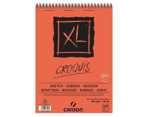 Zeichenblock Canson Croquis XL A4, 90g/qm