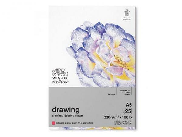 Zeichenblock Winsor Newton Smooth Surface 220g/qm A5 25Bl.