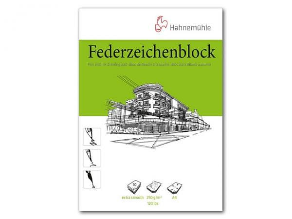 Zeichenblock Hahnemühle Federzeichenblock A4 10Blatt 250g/qm