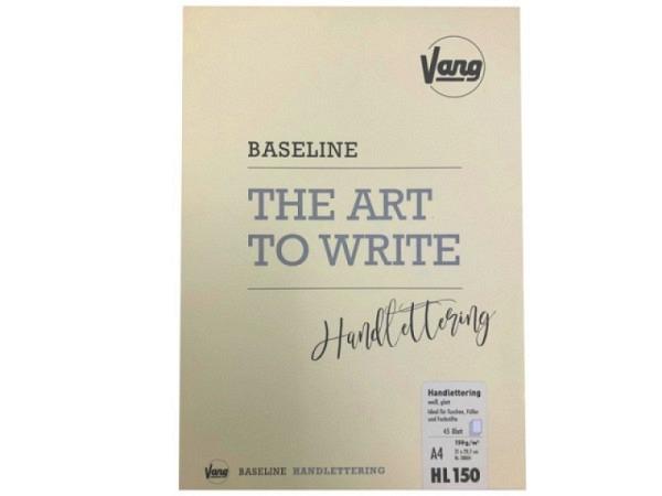 Zeichenblock Vang Baseline Handlettering A4