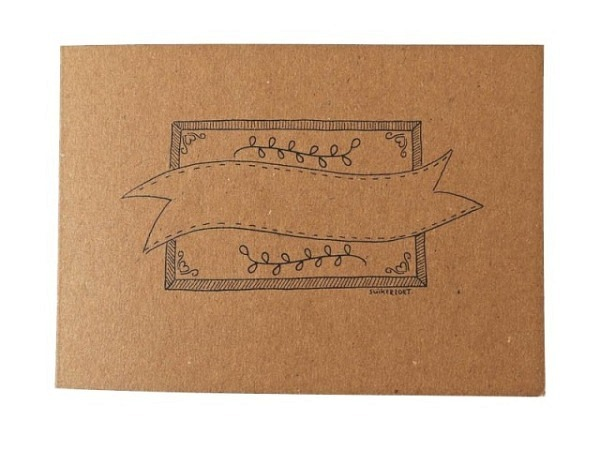 Zeichenblock Papicolor Brushlettering Übungsblock A6 quer 60Blatt Kraftbraun Papermix