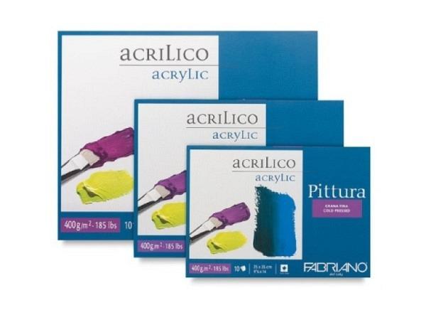 Akrylblock Fabriano Pittura 40x40cm 400g/qm 10Blatt rundum