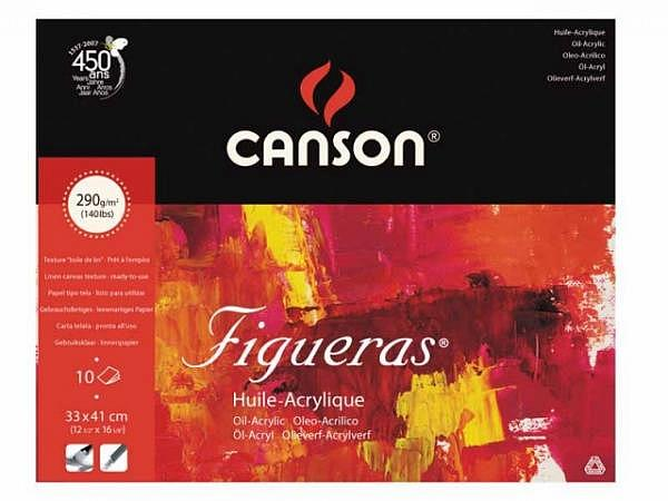 Oelmalblock Canson Figueras 290g/qm rundum geleimt 30x40cm