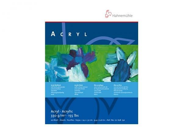 Akrylblock Hahnemühle Acryl 330g/qm 24x32cm, 20Blatt, weiss