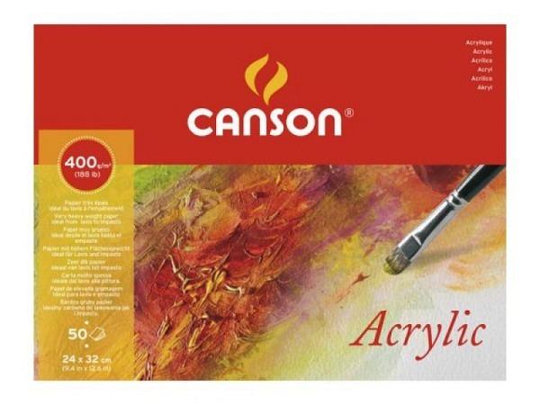 Akrylblock Canson 50Blatt 400g 24x32cm, einseitig geleimt