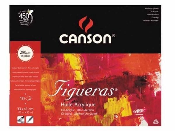 Oelmalblock Canson Figueras 290g 10Bl 19x24cm