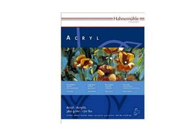 Akrylblock Hahnemühle Acryl 360g/qm 30x40cm 10Blatt naturwe.