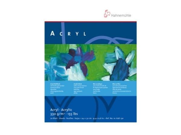 Akrylblock Hahnemühle Acryl 330g/qm 30x40cm, 20Blatt, weiss