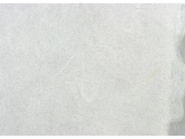 Couverts Japanpapier A4 weiss mit echten Blumen gepresst