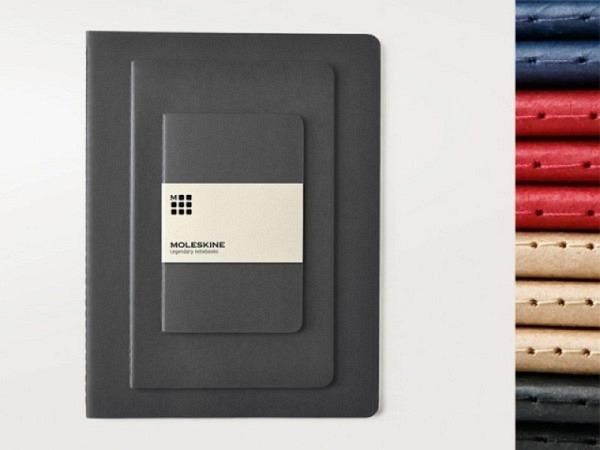 Skizzenheft Moleskine Cahier Pocket A6 myrtengrün blanko, 3 Büchlein