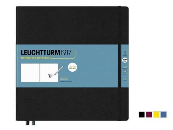 Skizzenbuch Leuchtturm Quadrat blanko 225x225mm Hardcover, 150g/qm
