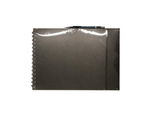 Skizzenheft Semikolon A4 pink Papierbezug blanko