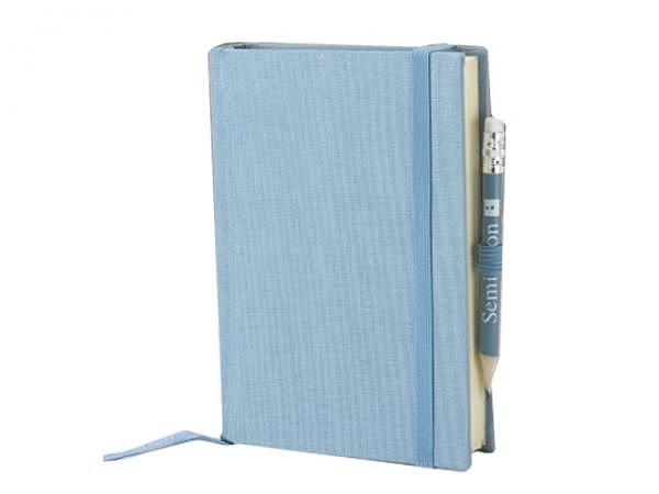 Skizzenbuch Semikolon Petit Voyage 10x14,4cm ciel himmelblau