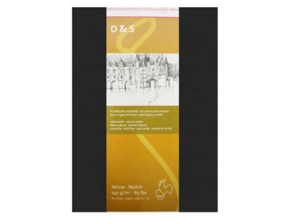 Skizzenbuch Hahnemühle D&S A6 Hochformat schwarzer Umschlag