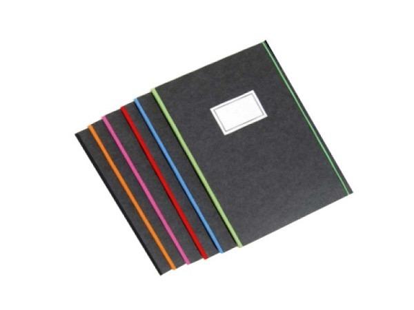 Skizzenbuch Bindewerk Purist A4 Schwarzkarton mit schwarz