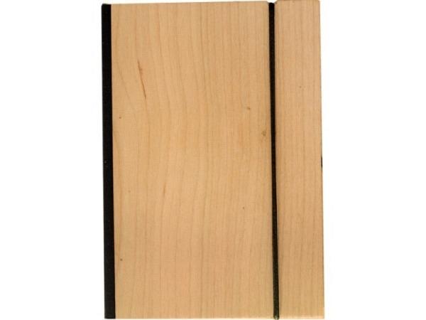 Skizzenbuch Bindewerk Wood Kirsche 12x16,5cm 90g/qm