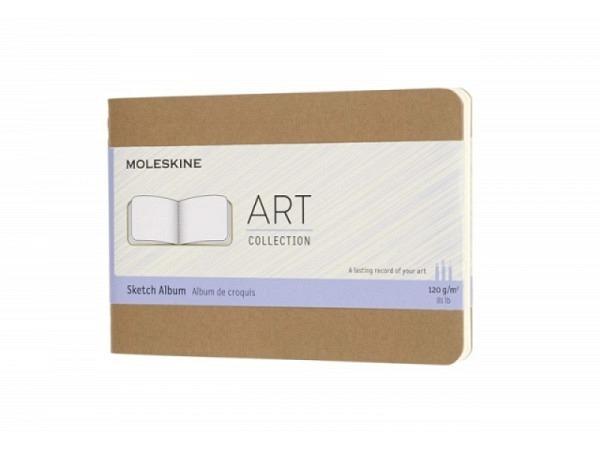 Skizzenheft Moleskine Art Collection Sketch Pocket A6 quer kraftpapi..