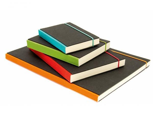 Skizzenbuch Bindewerk Purist A5 Schwarzkarton mit farbig