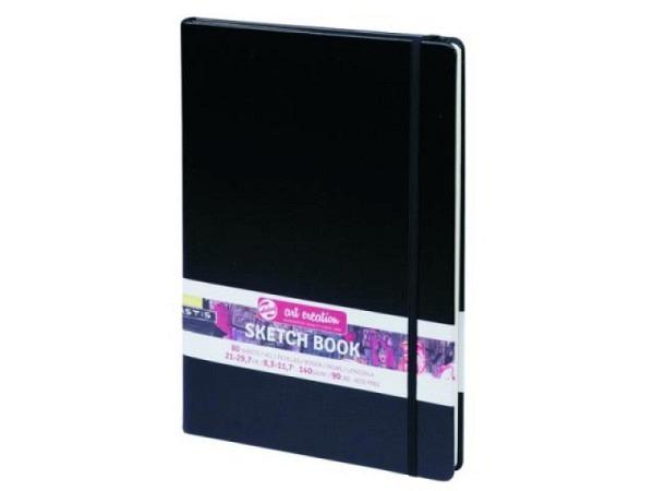 Projektskizzenbuch 30x15,5 cm quer grau, 120 Seiten 120g/qm für alle Trockentechniken, sehr gute Pigmenthaftung