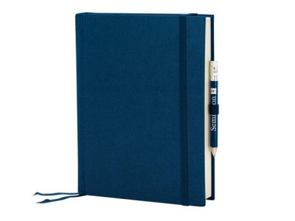 Skizzenbuch Semikolon Grand Voyage 14,3 x 19,2 cm marine Leinendeckel