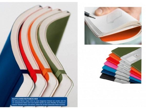 Skizzenbuch Leuchtturm Composition blanko marine, Softcover, 80g/qm