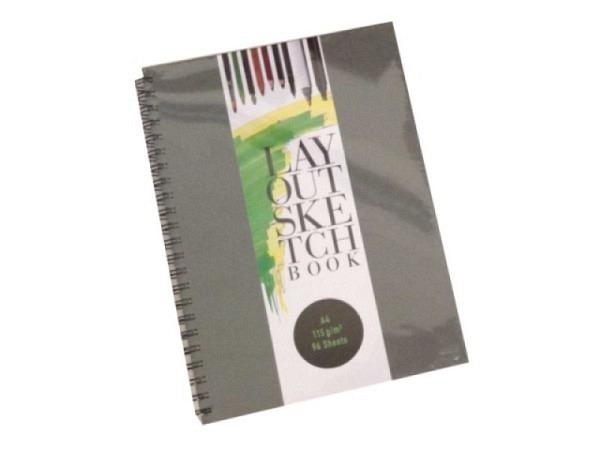 Skizzenbuch bam Layout Sketchbook A4, mit schwarzer Spirale