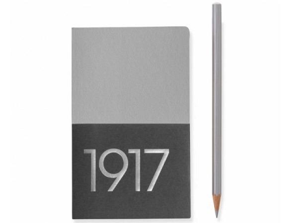 Skizzenbuch Leuchtturm Metallic Edition Jottbook Pocket silber