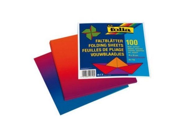 Regenbogen-Faltpapier 100Bl 10x10