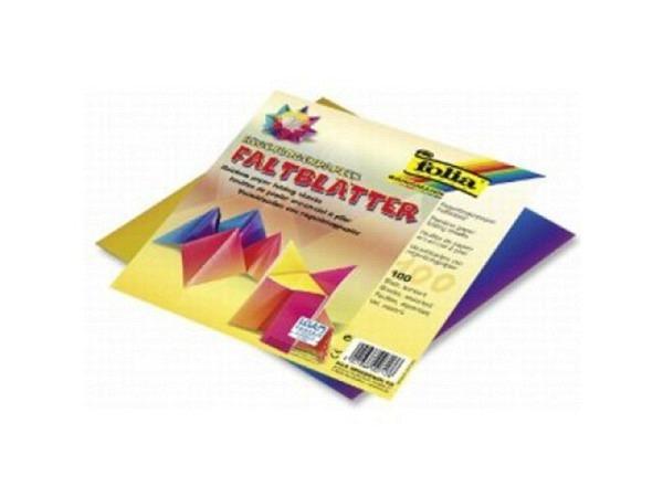 Origami Folia 20x20cm Faltblätter aus Regenbogenpapier 110g