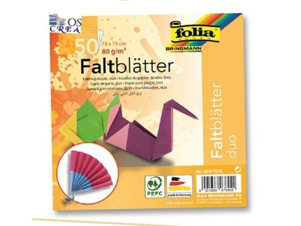 Origami Folia Duo 15x15cm 50 Blatt