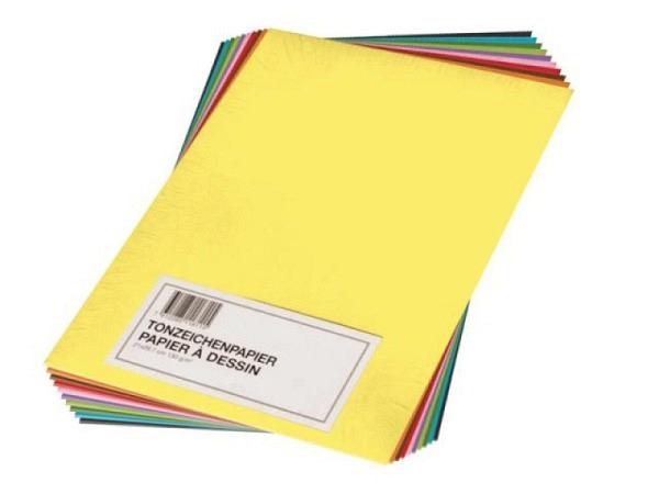 Tonzeichenpapier Papyrus A4 farbig assortiert 100 Blatt