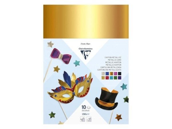 Glanzpapier gummiert 35x43 gold