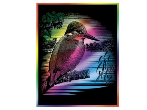 Schabkarton Essdee Rainbow 15,2x22,9cm ca. A5, schw. Oberfl.