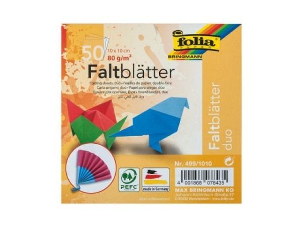 Origami Folia Duo 10x10cm 50 Blatt