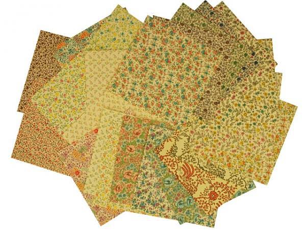 Origami Carta Varese Ranken und Blumen 16x16cm 24Blatt