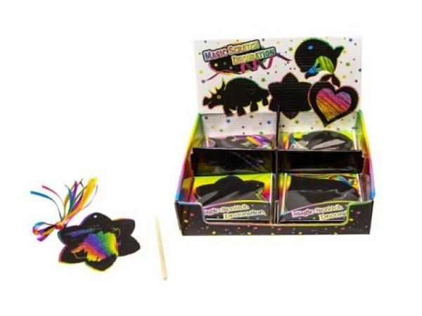 Kratzpapier Regenbogen, mit schwarzer Oberfläche