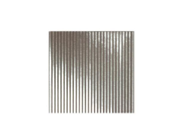 Wellblech Aluminium 17,5x24cm fein gewellt wie Wellkarton