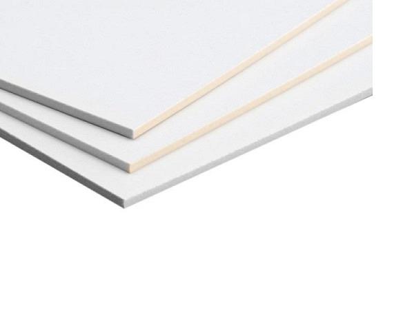 Siebdruckkarton weiss 75x100cm 1,5mm 880g/qm