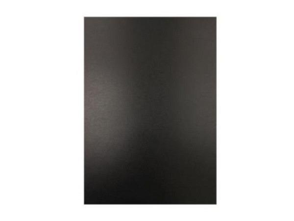 Chromolux 70x100cm 250g/qm schwarz, Rückseite weiss