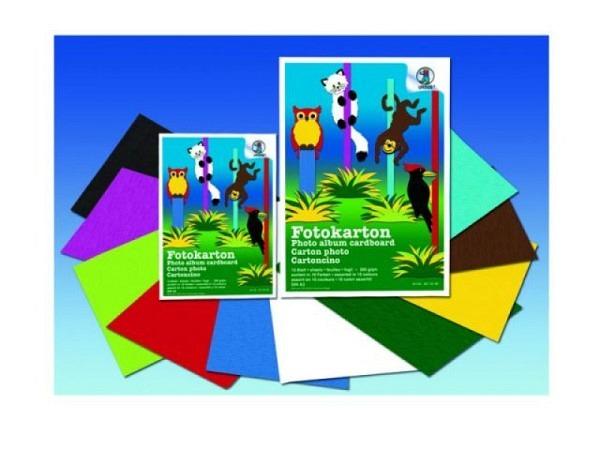 Fotokartonblock farbig A4