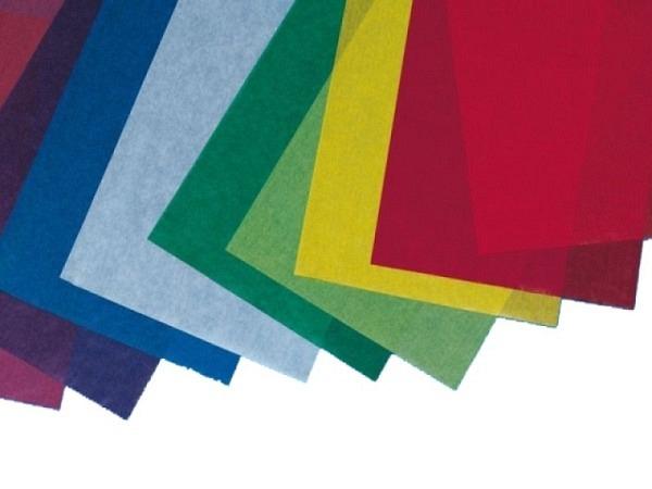 Pergamin 70x100cm blau 42g/qm, satiniert, auf 50x70cm