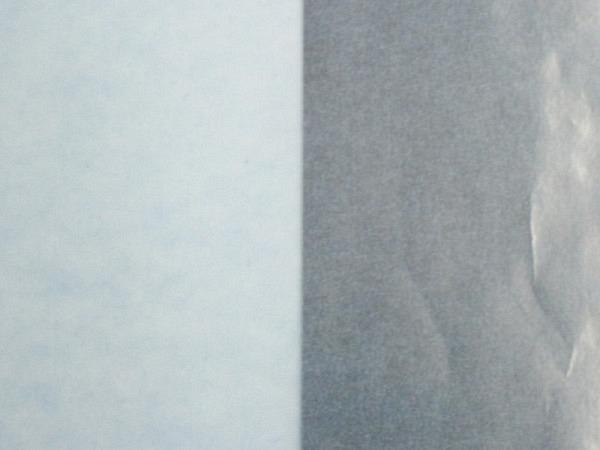 Pergamin 70x100cm hellblau 42g/qm, satiniert, auf 50x70cm