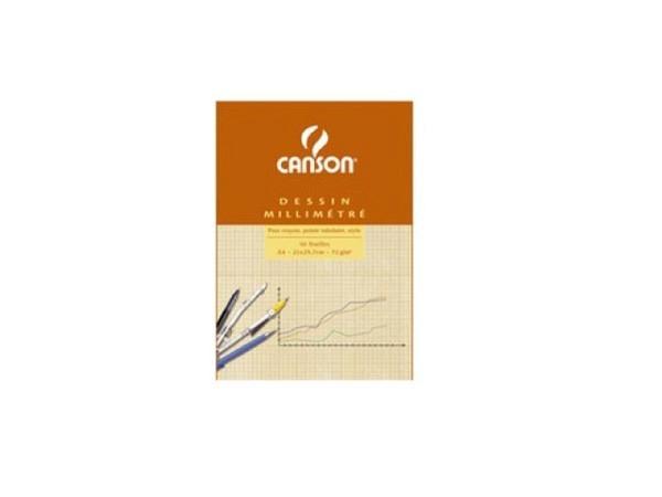 Millimeterpapier Canson A4 90g rot/weiss 50 Blatt