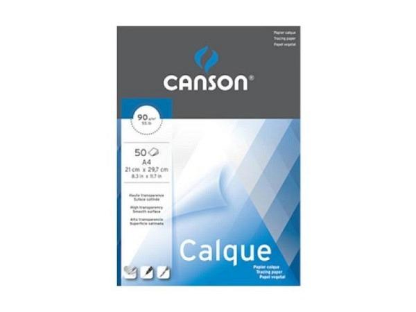 Transparentpapier Canson Calque A4 50 Blatt 90g/qm
