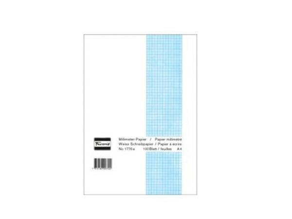 Millimeterpapier Favorit A4 80g blau/weiss 100Bl.