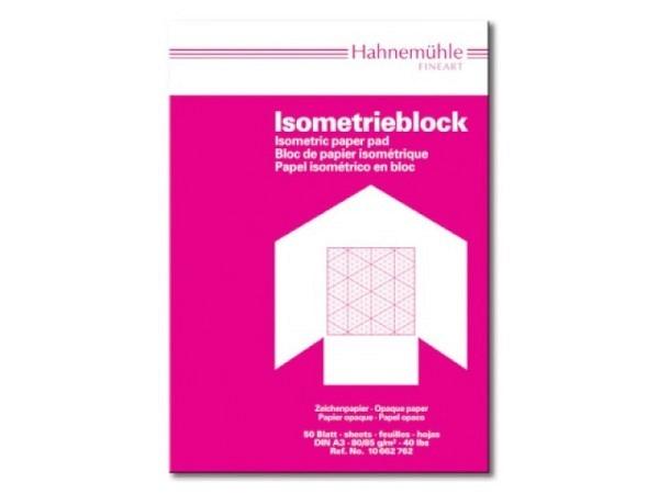 Isometrisches Papier S&S A4 50Bl. 80g blau auf weiss